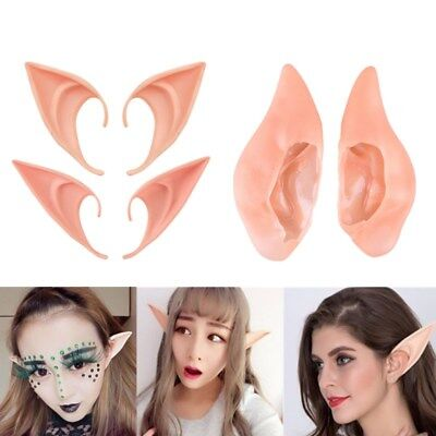 1Pair Halloween Costume Hobbit Latex Elf Ears Cosplay Party Props Creative Gift](Creative Halloween Costume)