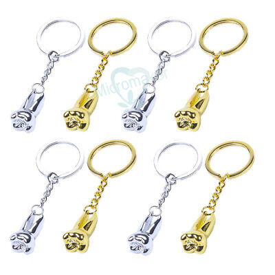 Teeth Keychain Dentist Decoration Key Chains Stainless Steel Tooth Model Shaped