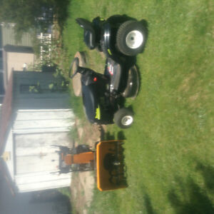 Lawn tractor and snow blower