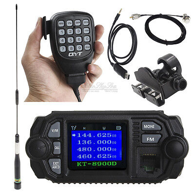 KT-8900D V/UHF Mobile Radio+USB Program Cable+SP-45 Antenna+5m extension Cable