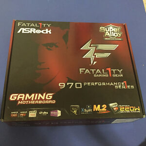 Brand new ASRock Fatal1ty 970 Performance motherboard