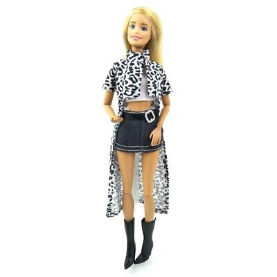 Barbie Dolls Clothes High Fashion Party Dress Shoes Outfit X-mas Gift Girls Toy