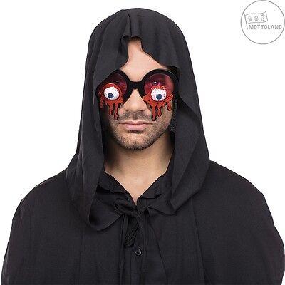 Mottoland 610008 - Bloody Eyes Brille, Kostüm Zubehör, Halloween - Augäpfel (Halloween Eye Zubehör)