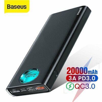 Baseus 20000mAh Power Bank Type C PD USB  External Battery for iPhone Samsung LG