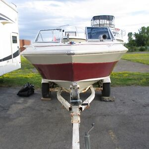Larson Power Boat with 150 Horse Power Johnson Motor and Trailer