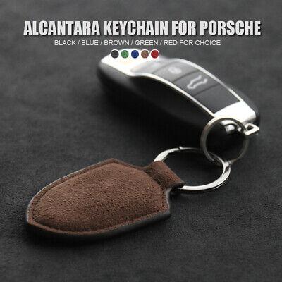 Alcantara Car Key Chain Key Ring Holder for Porsche Cayenne 911 Palamera Macan