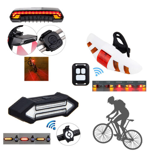 Bike Bicycle Cycling Rear Tail LED Direction Indicator Light with Remote Control