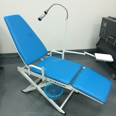 Portable Folding Dental Chair Cuspidor Tray Operation Light Mobile Equipment Us