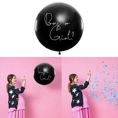 r Girl Junge Mädchen Konfetti Rosa Blau 1 m Geburt Ballon (Mädchen Luftballons)