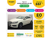 WHITE MERCEDES-BENZ A180 1.5 CDI SPORT AMG LINE A200 A220 1.8 FROM £67 PER WEEK