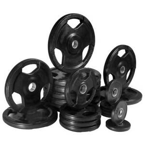 NEW 170KG OLYMPIC RUBBER PLATES   BARBELL PACKAGE