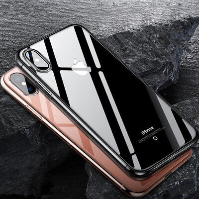 For iPhone 10 X Case Ultra Slim Crystal Clear Protector Shockproof Soft Cover