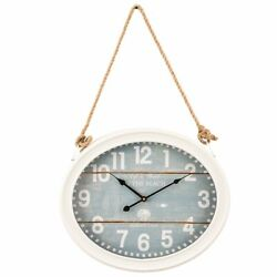 Yosemite Clock on A Rope Beach Wall Clock in White and Blue