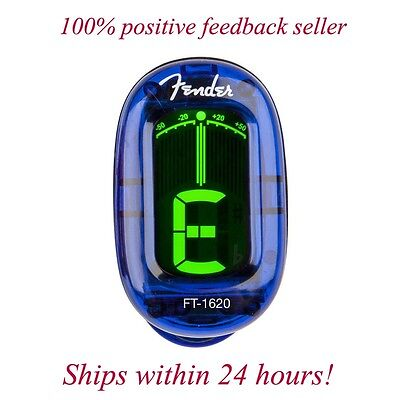 Купить Fender FT-1620 - FENDER BLUE CALIFORNIA CHROMATIC HEADSTOCK TUNER FOR GUITAR, BASS, UKE, & BANJO