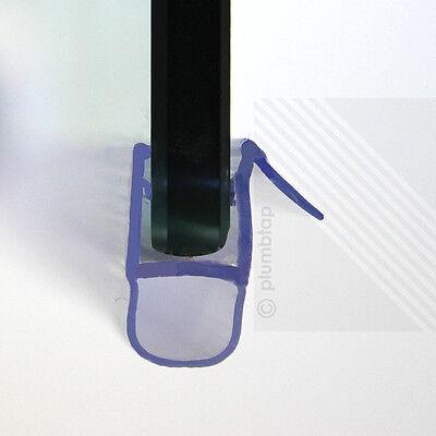Shower Screen Seal Bath Door Strip | Glass Thickness 4mm - 6mm | Seals Gap 4-6mm