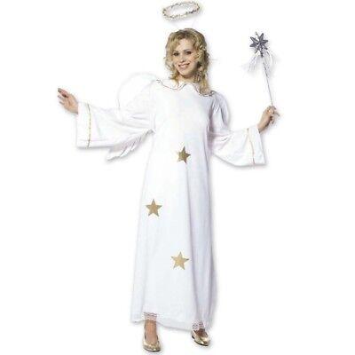 Gold Engel Kostüm Damen Engelskostüm mit Flügeln + Heiligenschein Gr. S 34 36