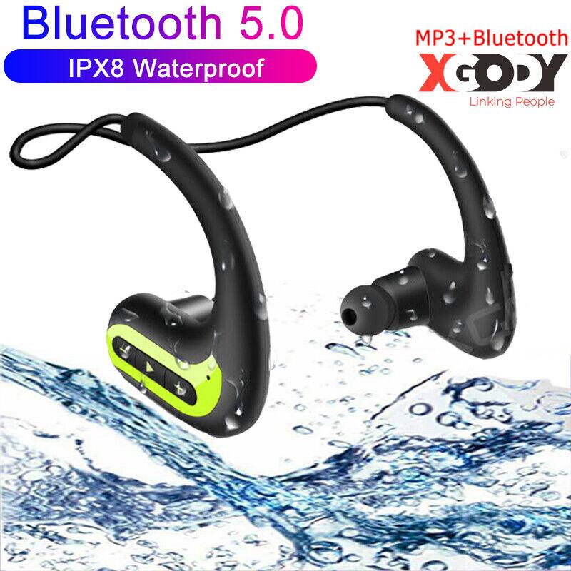 IPX8 Waterproof Headphone Wireless Earphone 5D Stereo Earbud