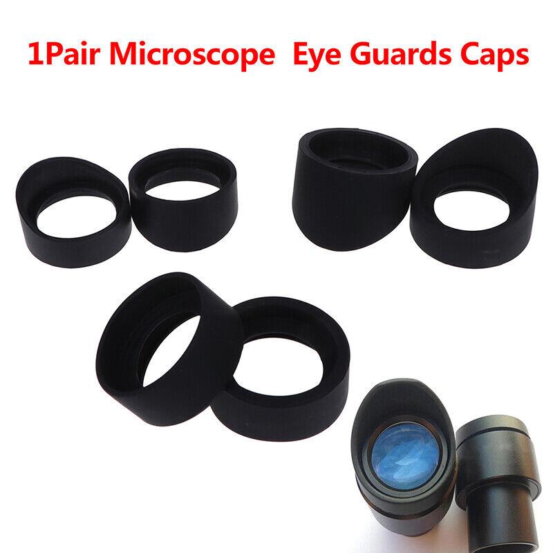 1Pair Telescope Microscope Eyepiece 33-36 Mm Eye Cups Rubber Eye Guards Caps EF
