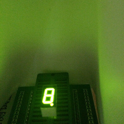 10pcs Led Display 7 Segment 0.36inch 1-bit Green Light Cc 1digit Character Block