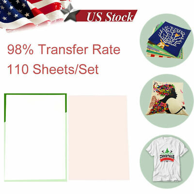 110pcs A4 Iron On Heat Transfer Sublimation Paper For Inkjet T-shirt Printer Mug