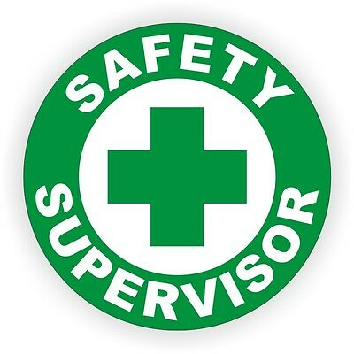 Safety Supervisor Hard Hat Decal / Label - Sticker Work Safely Manager Officer for sale  Shipping to India