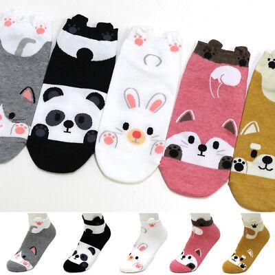 5 Pairs Friends Animals Character Socks Women Girls Big Kids Funny Casual Socks
