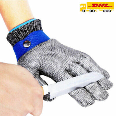Edelstahl Stechschutzhandschuhe Kettenhandschuh Sicherheits-Handschuh Metzger