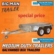 8X5 NO CAGE ☒ 2000KG TANDEM AXLE TRAILERS GALVANISED BRAKED pick Moorabbin Kingston Area Preview