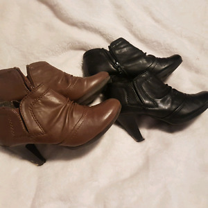 2 pairs of ankle booties that look fab with most anything! Sz7