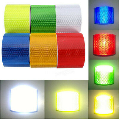 Hot Reflective Safety Warning Conspicuity Tape Film Sticker Multicolor Sale