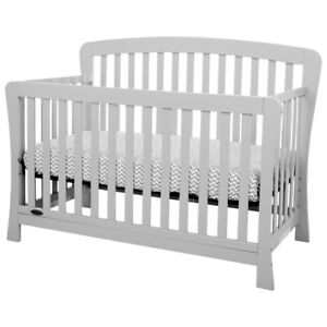 Kidiway Claire 4-in-1 Convertible Crib - Grey or Espresso new in