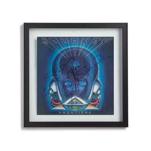 """Journey Signed By 5 Band Members w/ Steve Perry 1983 """"Frontiers"""" Album LP Print"""