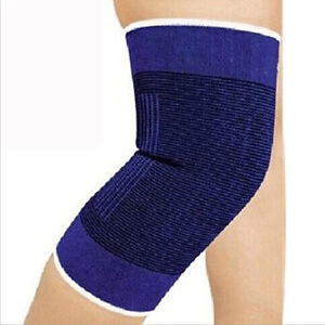 2 Knee Elastic Brace Muscle Support Sleeve Arthritis Sports Pain Relief Gym NEW