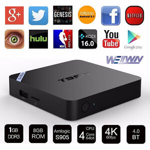 Android TV Box 4K OS 6.1 Quad Core 8GB Rom 1GB Ram WiFi