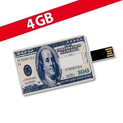 4 GB Speicherkarte in Scheckkartenform 100 Dollar USB