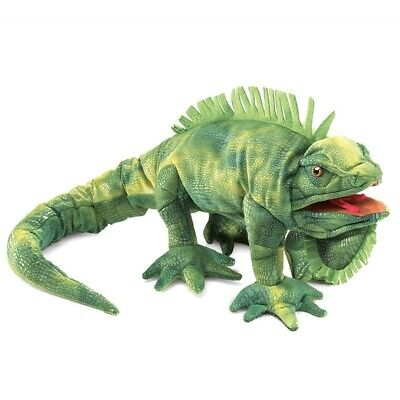 IGUANA PUPPET # 2258 ~ 32' Long ~ FREE SHIPPING in USA !! Folkmanis Puppets