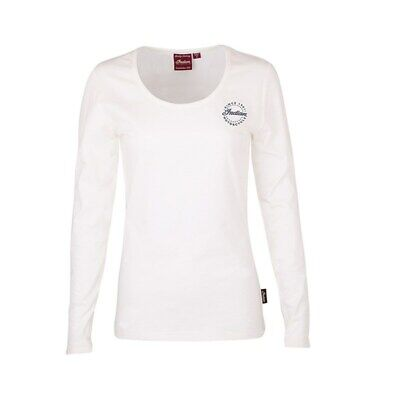 Indian Motorcycle Women's Long-Sleeve Diamante T-Shirt, White, L