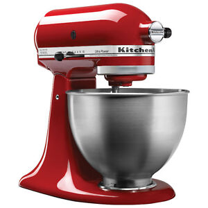 Kitchen Aid Stand Mixer (Red) - Used w/ no implements