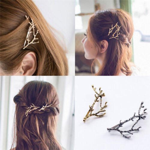 Celebrity Metal Tree Branch Hairpins Gold Silver Hair Clip f