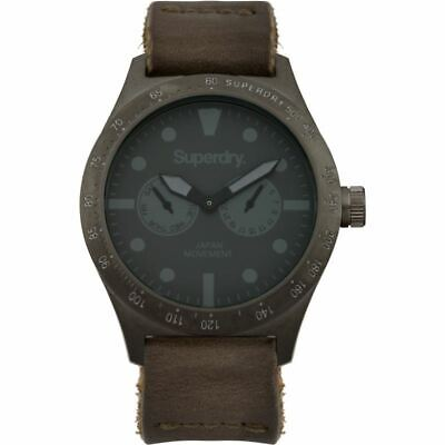 Superdry Mens Gents Triton Multi Brown Wrist Watch SYG106E