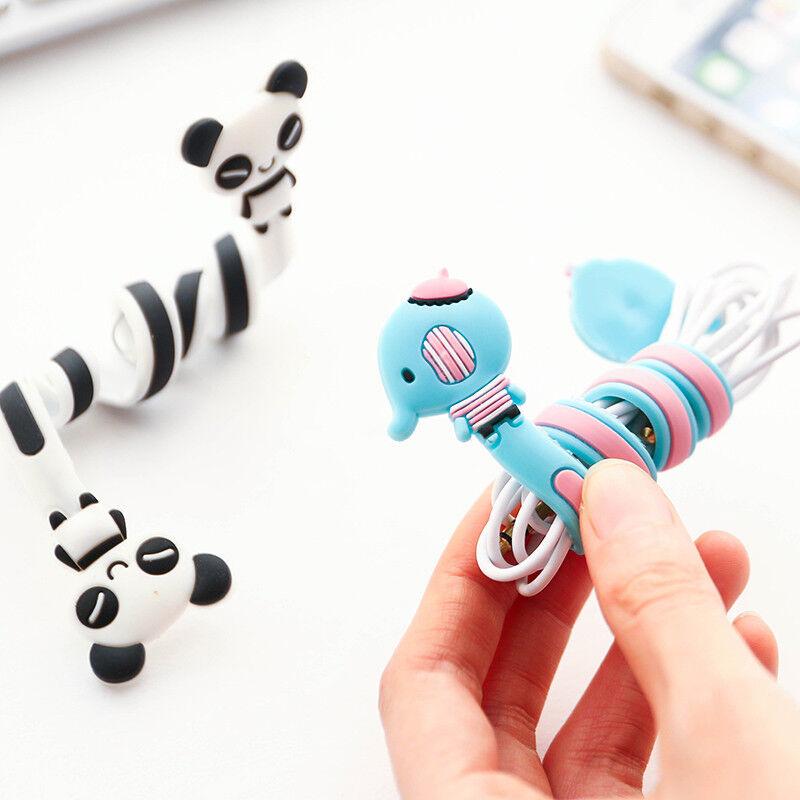 Cord Winder Cartoon Cable Organizer Wrap Manage Wire Earphone Headphone Holder