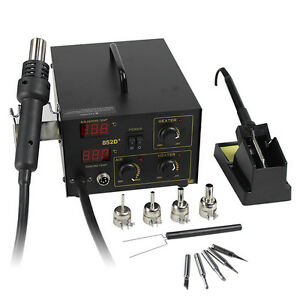 New-2in1-852D-Hot-Air-Iron-SMD-Soldering-Rework-Station-ESD-PLCC-BGA-5Tips