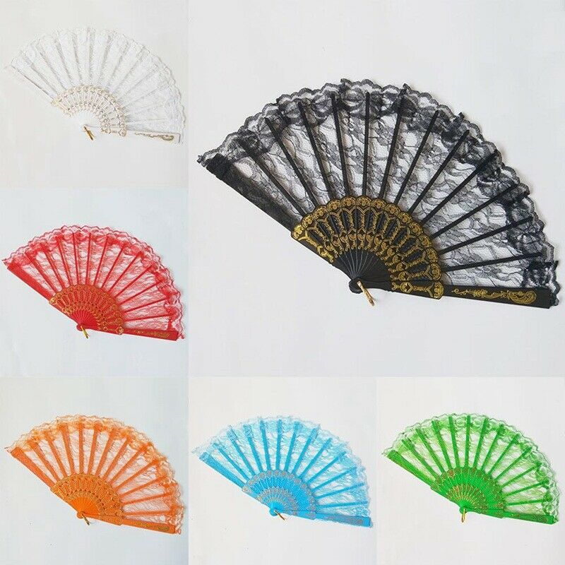 Spanish Flamenco Dancer Folding Lace Hand Fan Photography Lace Women Fan Nice US