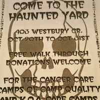 Zombie crews haunted yard