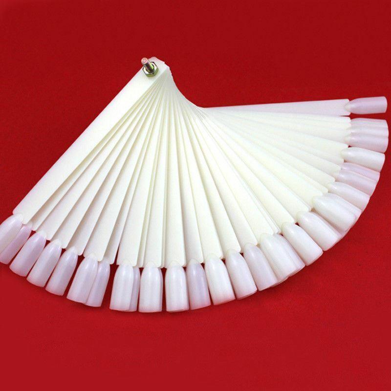 50Pcs/Lot False Nails For Nail Art Tips Equipment Tools Polish Fan Sample Color