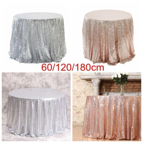 UK/_ WEDDING GLITTER SEQUIN RECTANGULAR TABLECLOTH TABLE CLOTH COVER BANQUET STRI