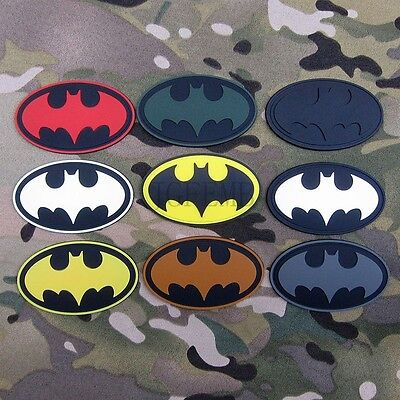 Super hero Batman Tactical military morale 3D PVC Patch Badges