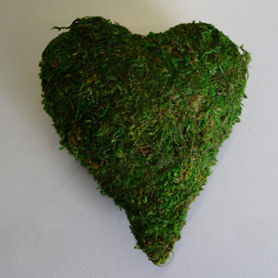 Moss Heart Table Decoration Church Wedding Christening Place Cards 7, 15 Or - Sweet 15 Table Decorations