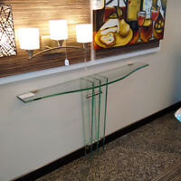 Unique Glass console table for sale