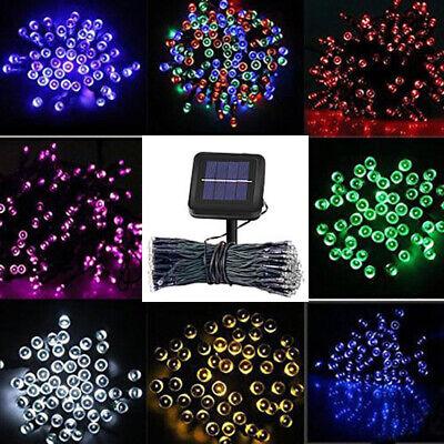 50/100/200 LED Solar Power Fairy Garden Lights String Outdoor Party Wedding Xmas